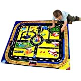 Children's Play Village Mat Town City Roads Tunnel Lake Airport Mat- Christmas gift Boys and Girls Toys