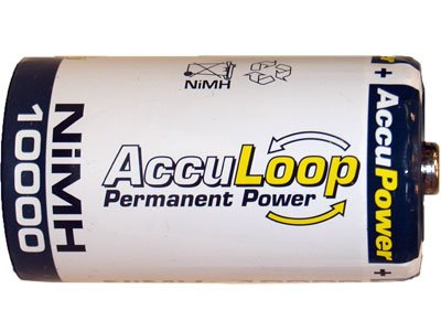 8 X D 10000 Mah Accupower Low Discharge Nimh Rechargeable Batteries by AccuPower