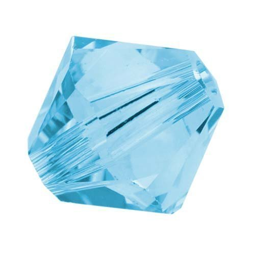 SWAROVSKI ELEMENTS Crystal Bicone 5328 4mm Aquamarine (50)