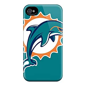 Fashionable RRM3311sfOp Iphone 4/4s Case Cover For Miami Dolphins Protective Case
