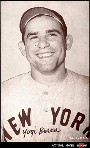 1947 Exhibits POR Yogi Berra New York Yankees (Baseball Card) (Portrait/Made in U.S.A. in Lower Right) Dean's Cards 4 - VG/EX Yankees