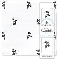 Amazing Baby Muslin Swaddle Blanket, Premium Cotton, Palm...