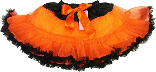 Wenchoice Girls Orange Tutu With Black Trim         S 1T 2T