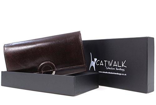 CATWALK COLLECTION - ODETTE - Cartera - Cuero Marrón