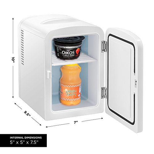 Chefman Portable Compact Personal Fridge Cools & Heats, 4 Liter Capacity Chills Six 12 oz Cans, 100% Freon-Free & Eco Friendly, Includes Plugs for Home Outlet & 12V Car Charger - White by Chefman (Image #3)
