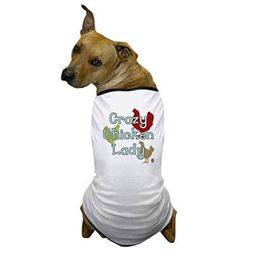 CafePress Crazy Chicken Lady Dog T Shirt Dog T-Shirt, Pet Clothing, Funny Dog Costume ()