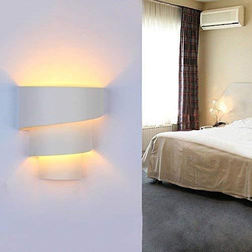 Maxmer 7W Applique Murale Int/érieure LED Aluminium Lampe Originale Moderne Simple Eclairage Lumiaire D/écoration pour Chambre Maison Couloir Salon Blanc Chaud Ampoule Inclus