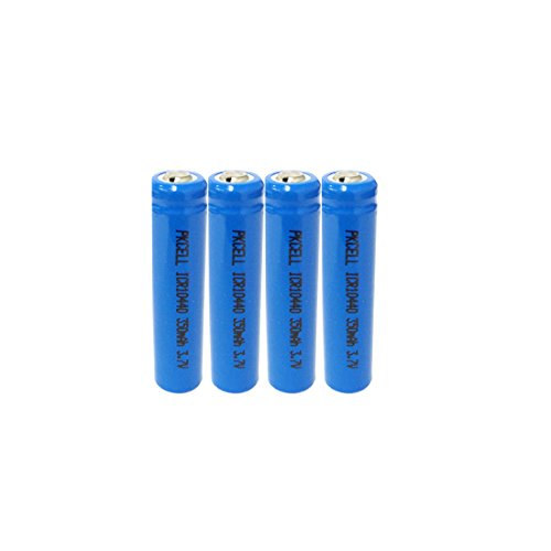 4pcs AAA ICR 10440 Rechargeable Lithium Ion Battery ,3.7v ()