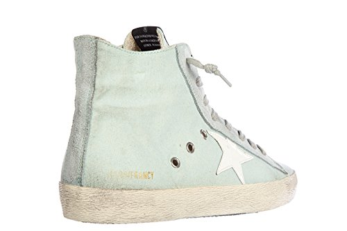 Golden Goose scarpe sneakers alte donna nuove originale francy blu
