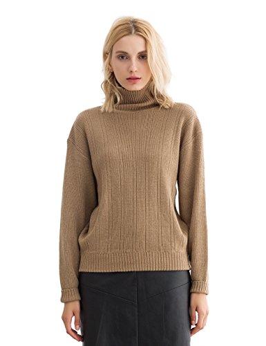 Womens Long Sleeve Turtleneck Sweater - 8