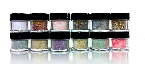 Mia Secret Acrylic Nail Art Powder Carnaval Collection 12 Different Colors (Mia Secret Glow In The Dark Acrylic)