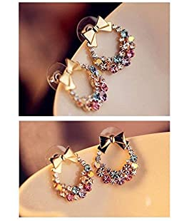 andy coolLovely Garland Rhinestone Earring Ear Stud for Fashion Women Girl Useful and Practical