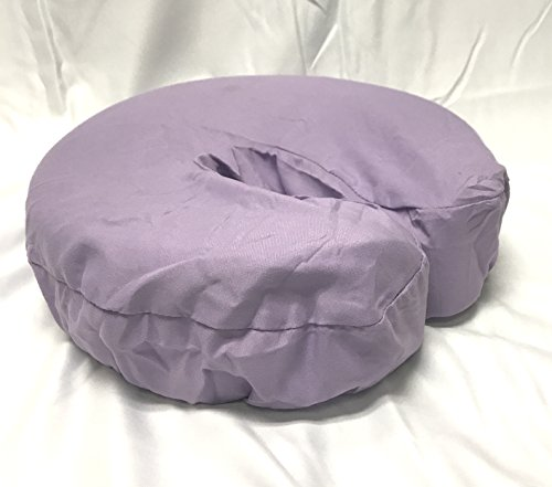 Fleece Rest Face - Therapist's Choice Premium Deluxe Microfiber Massage Table Face Cradle Covers, 4pcs per package (Lavender)
