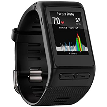 Garmin Vivoactive HR GPS Smart Watch, WW, Regular Fit - Black