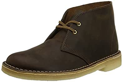 Clarks Women's Desert Boot Chukka Boot, Beeswax Leather, 5 M US