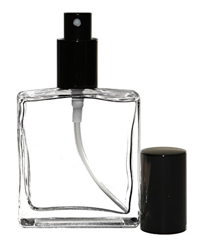 Riverrun Perfume Cologne Atomizer, Empty Refillable Glass Bottle, Black Sprayer 3.4 oz 100ml Set of 2