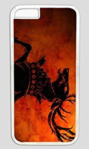 Abstract Horse DIY Hard Shell Transparent Best Designed iphone 6 plus Case