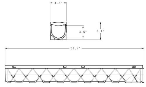 Source 1 Drainage 3-Pack Trench & Driveway Channel Drain System With Grates by Source 1 Drainage (Image #3)