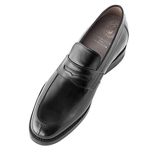 Chaussures Bertulli Chaussures Pour Hommes Qui Augmentent En Invisible Que Leur Taille Corps Jusquà 7 Cm. Chaussures Pour Hommes Avec Des Talons Cachés. Modèle Stanford Noir
