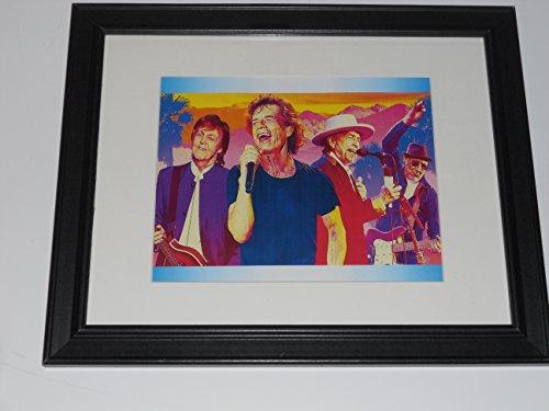 (Framed Rock Legends Artwork Paul McCartney, Bob Dylan, Mick Jagger, Pete Townshend 14