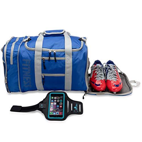 Gym Bag for Women Men Duffle Bag with Exterior waterproof Swim Pocket Sports Bag