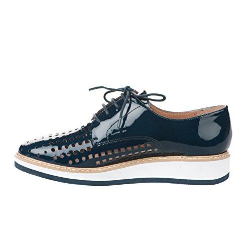 Karston Chaussures à Lacets Femme Bleu Bleu tkp48Jy