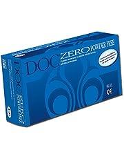Doc Zero Powder Free Guanti in Nitrile, Senza Polvere, Medi, Confezione 100 Pezzi