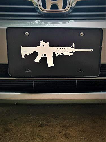 Ar-15 Gun Vanity License Plate Front Car Tag ()