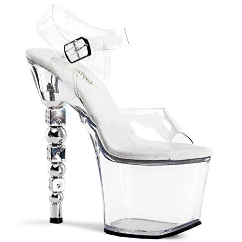 Pleaser - Sandalias de vestir para mujer Transparent