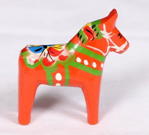 - Traditional Wooden Swedish Dala Horse - Red 1