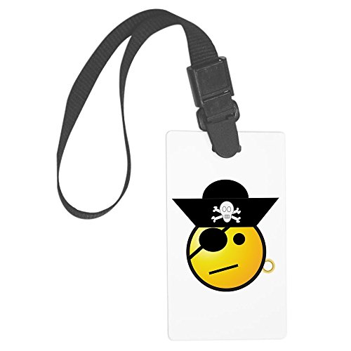 Disney Cruise Deck - Truly Teague Large Luggage Tag Smiley Face Pirate
