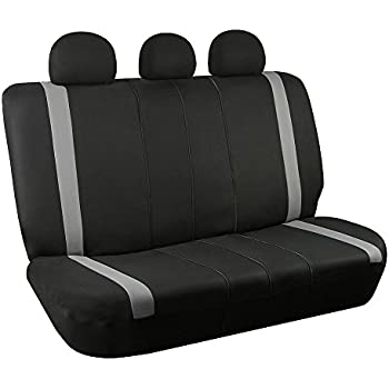 FH Group FB033GRAY013 Gray-Bench Seat Cover (Supreme Modernistic Split Compatible