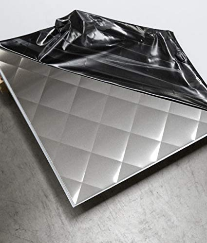 Quilted Stainless Steel Sheets, Brushed Finish, 24Ga x 48