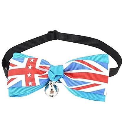 eDealMax Bandera de Reino Unido perro de la impresión corbata de pajarita Ajustable, tamaño Libre