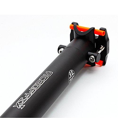 ACEOFFIX Verlängerte leicht Sattelstütze + Clip für Brompton (185g Feuerzeug) schwarz Edition