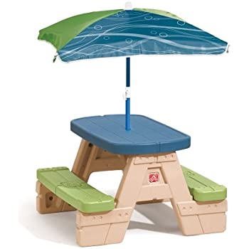 Amazon Com Little Tikes Fold N Store Picnic Table With