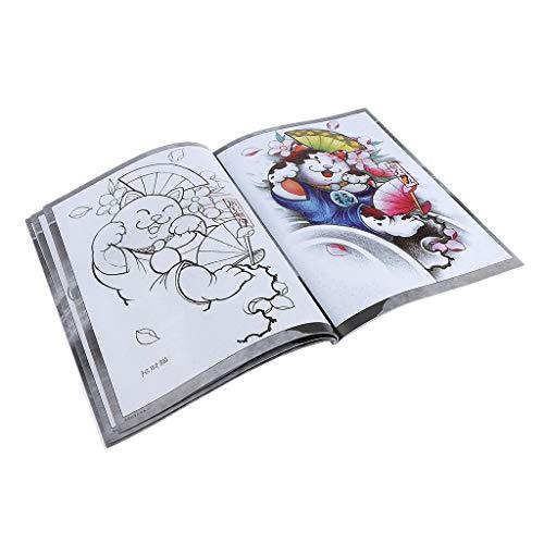 Traditional Geisha Flower Tattoo Flash Design Photo Sketch Book For Body Art
