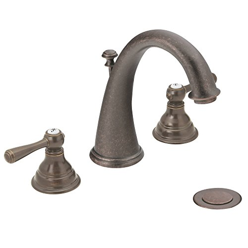 Moen T6125ORB Kingsley Two-Handle High-Arc Widespread Bathroom Faucet without Valve, Oil-Rubbed Bronze