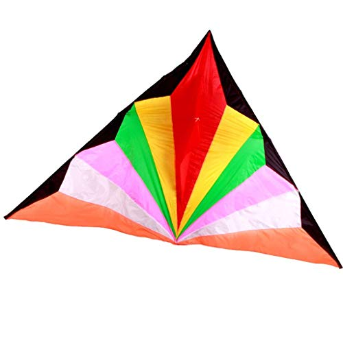 Triangle Kites, Colorful Breeze Easy to Fly Adult Beginner Kites Outdoor Kites Portable, 240 144CM