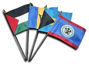 "Venezuela–2006(Estado)–4""x 6"" MUNDO Stick bandera"