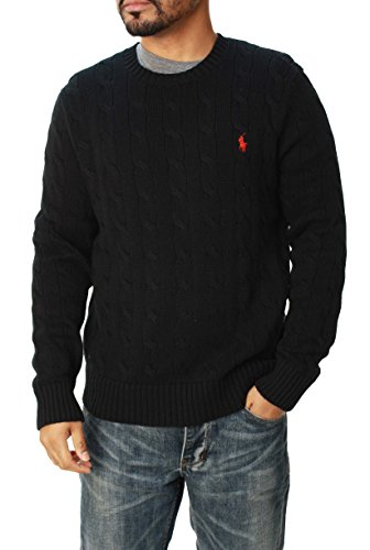 Polo Ralph Lauren Mens Pony Cable Knit Crewneck Sweater