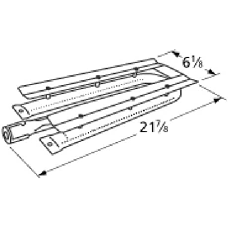 Music City Metals 15481 Stainless Steel Burner Replacement For Select Viking Gas Grill Models
