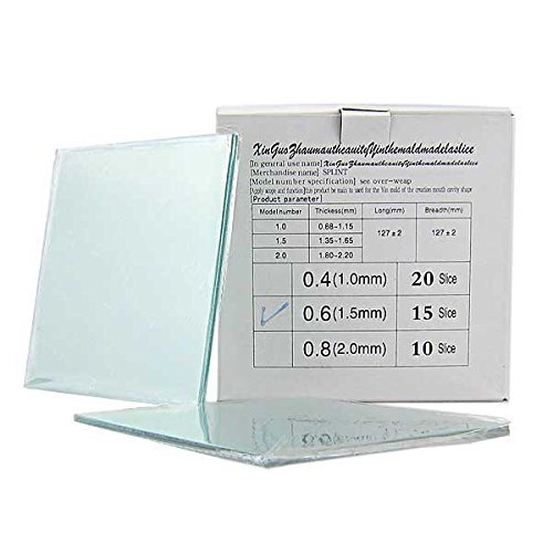 Dental Lab Splint Thermoforming Material for Vacuum Forming Hard 1.5mm, 15pcs/pk