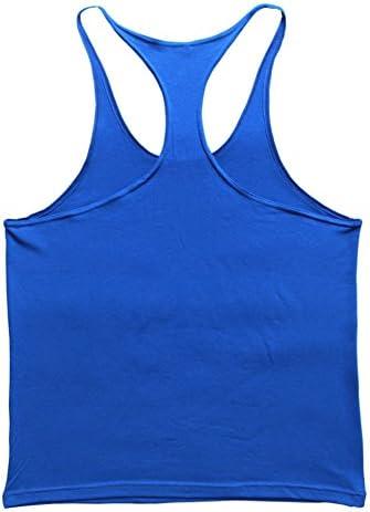Muscle Alive Mens Gym Stringer Singlet 1cm Strap Stretchy Bodybuilding Workout Tank Top Cotton