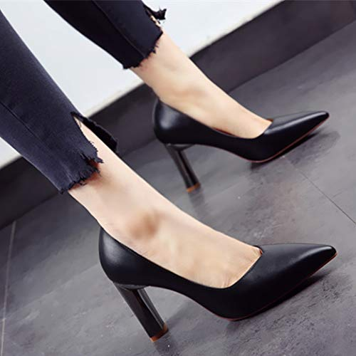 comfortable work Spring shoes banquet mouth and pointed fashion high shallow 35 EU heels shoes single YMFIE autumn shoes A Idq77