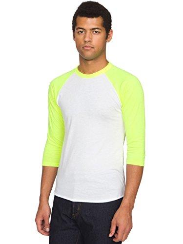 American Apparel BB453 - Unisex Poly-Cotton 3/4-Sleeve Raglan T-Shirt