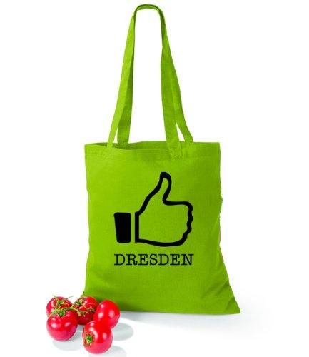 Artdiktat Baumwolltasche I like Dresden Kiwi