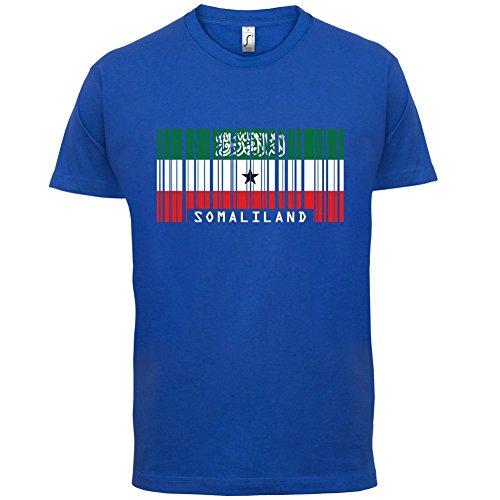 Somaliland / Republik Somaliland Barcode Flagge - Herren T-Shirt - Royalblau - XL