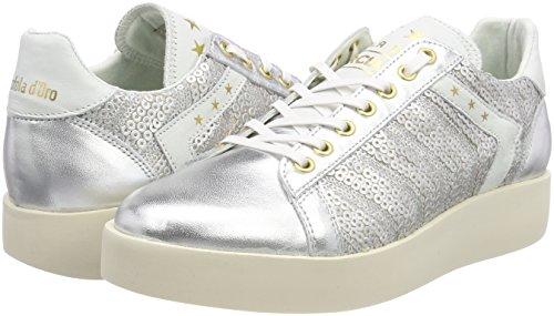 Donne Para Zapatillas Pantofola Low silver Pailette Mujer Plateado D'oro Lecce SHwXqXtY