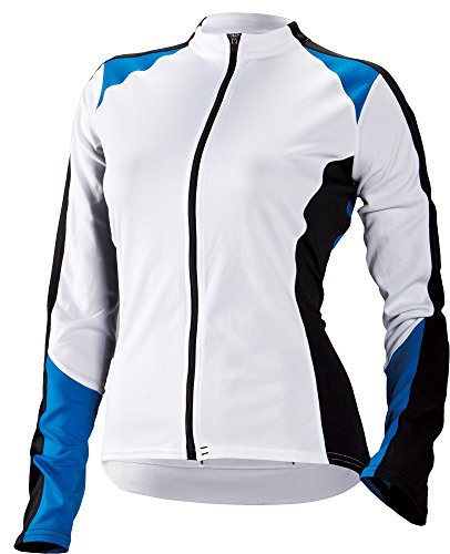 Cannondale Women's Domestique Long Sleeve Jersey, White, X-Small